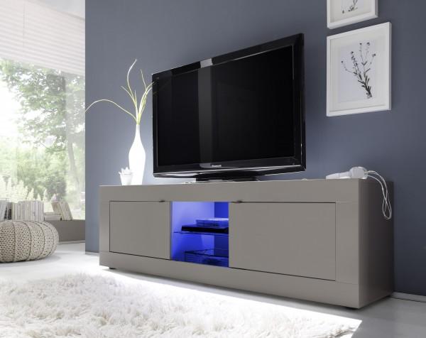 TV Unterteil 181cm beige mit Glasablage