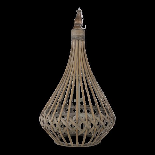 Hänge-Windlicht Bambus 39x74cm