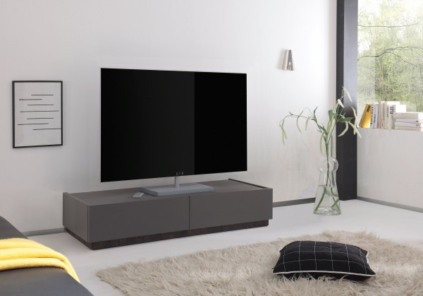 TV Lowboard 123cm anthrazit Lack matt/ Wenge