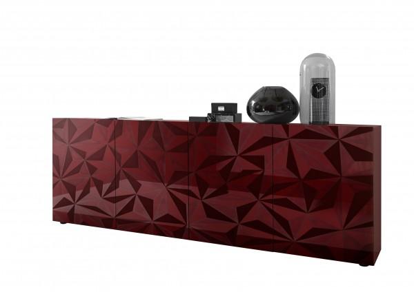 LC Spa Prisma Sideboard 4trg. rot Hochglanz 3D Druck