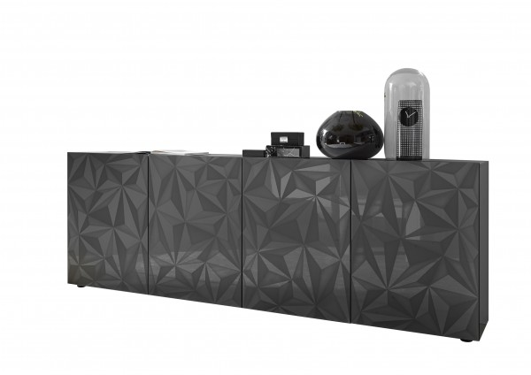 Sideboard Prisma Anthrazit 241cm von LC Spa
