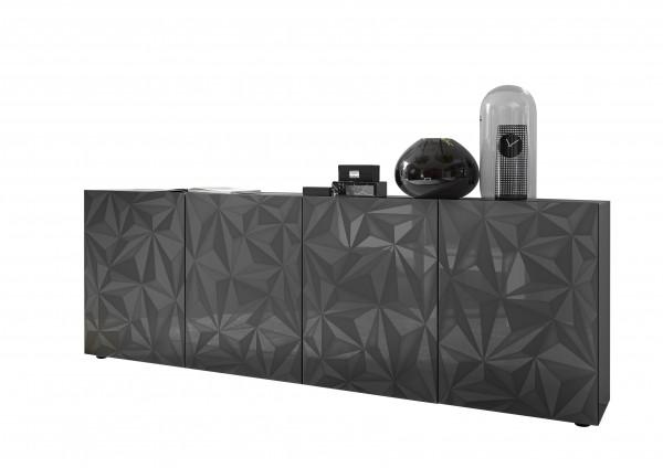 LC Spa Prisma Sideboard 4trg. anthrazit Hochglanz 3D Druck