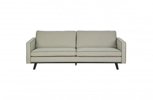 Sofa 3-Sitzer Retro Style grün/beige