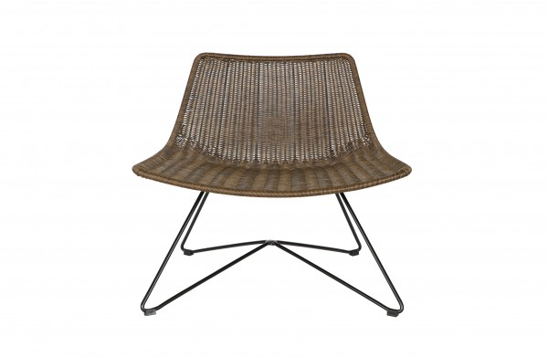 Lounge Sessel Rattan Look braun