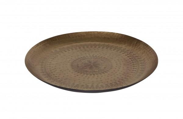 Metall Tablett 55cm Gold matt