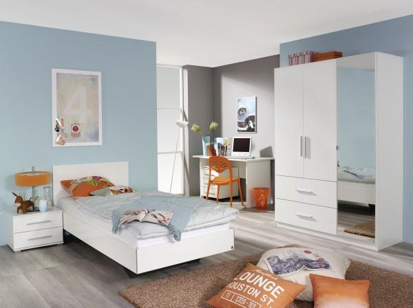 Jugendzimmer Hochglanz weiß/alpinweiß