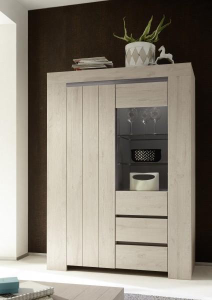LC Spa Palmira Vitrine 123cm Eiche hell/ beige