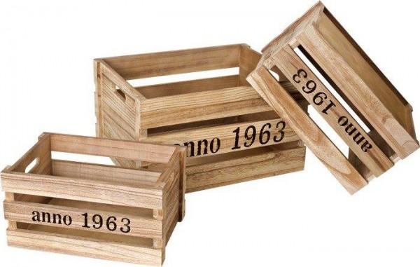 Holzkisten-Dekokisten-Weinkiste 1963 in versch. Größen