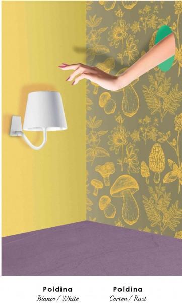 LED-Wandlampe dimmbar wiederaufladbar für Innen & Außen versch. Farben