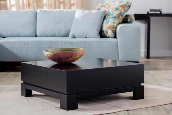 Lounge-Couchtisch 80cm schwarz Hochglanz lackiert