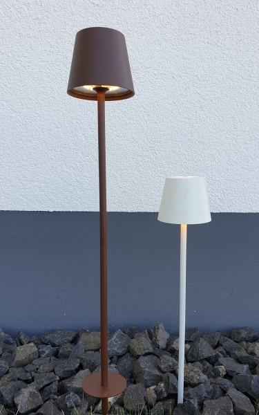 LED-Terra-Floor Lampe dimmbar wiederaufladbar für Innen & Außen versch. Farben