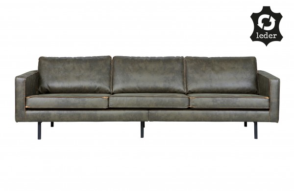 Sofa Rodeo 3-Sitzer Army Eco Leder Retro-Style