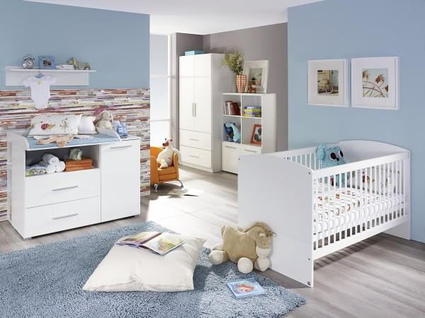 Babyzimmer 6tlg. Hochglanz weiß/alpinweiß