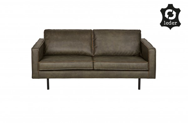 Sofa Rodeo 2,5-Sitzer Army Eco Leder Retro-Style Couch