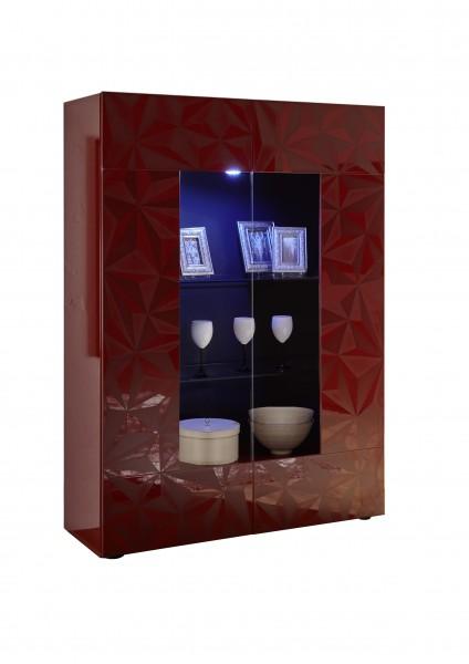 LC Spa Prisma Vitrine rot Hochglanz mit 3D Siebdruck
