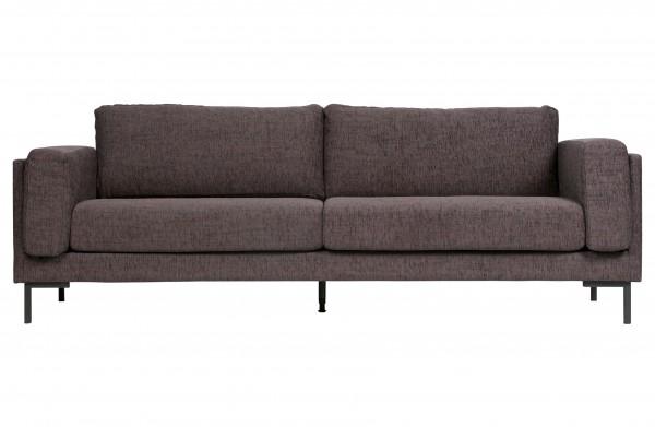 Sofa 3-Sitzer Stoff anthrazit