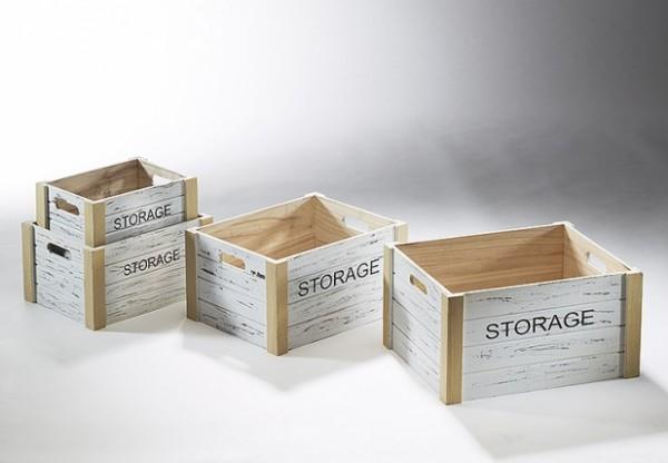 Holzkisten-Dekokisten Storage in versch. Größen