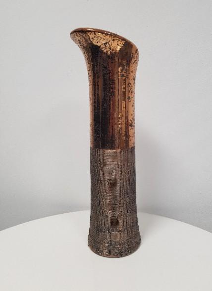 Deko Vase 38cm Zylinder Bronze