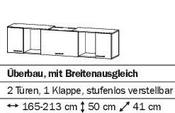 Stauraum Überbau 165-213cm alpinweiß oder weiß HG