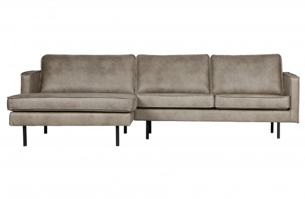 Sofa 3-Sitzer elephant skin Chaiselongue links