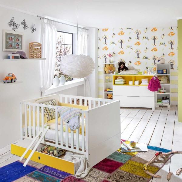 Babyzimmer Joris Weiß/Gelb von Wimex