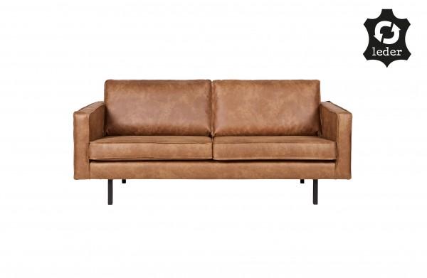 Sofa Rodeo 2,5-Sitzer Cognac Eco Leder Retro-Style