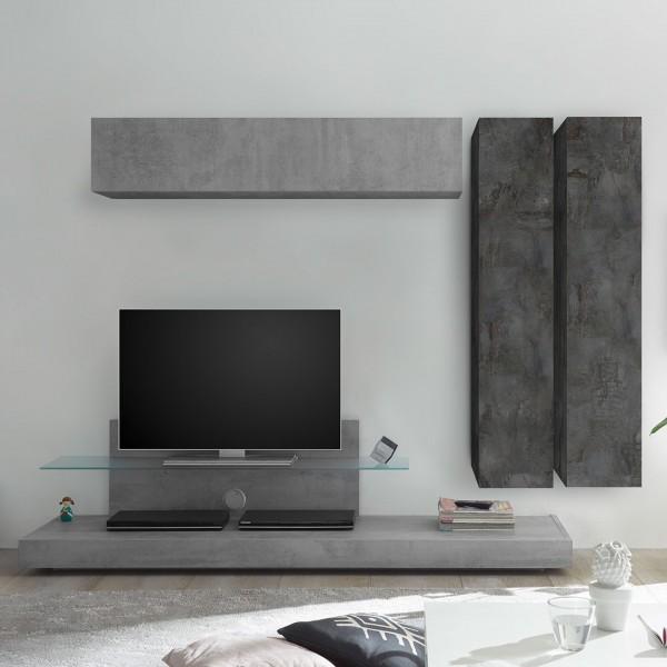 Wohnwand Infinity 4-teilig von LC Spa