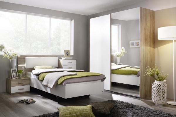 Appartment Zimmer in alpinweiß/Eiche Sanremo hell