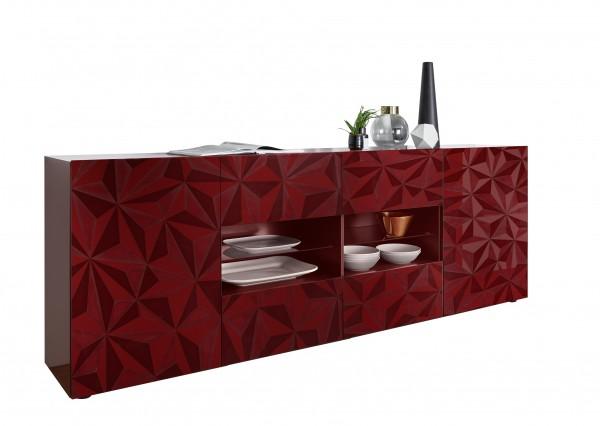 Sideboard Prisma Rot 241cm von LC Spa