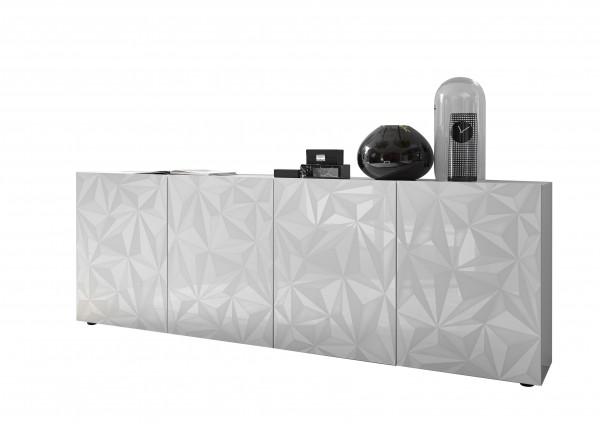 LC Spa Prisma Sideboard 4trg. weiß Hochglanz 3D