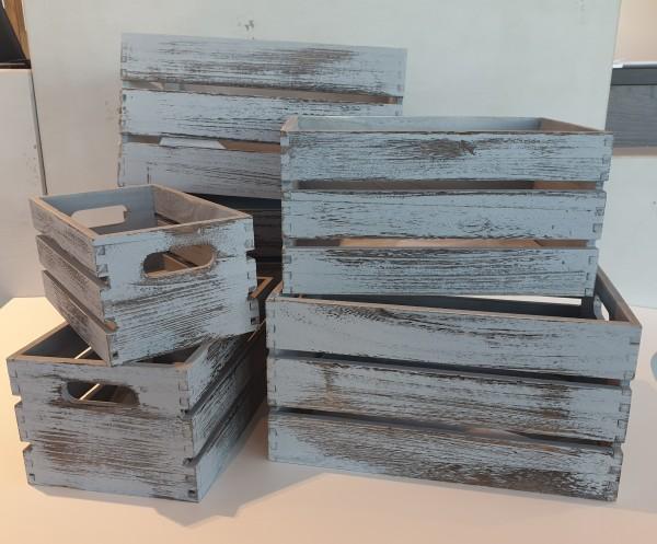Holzkisten-Dekokisten-Holzbox-Weinkiste in versch. Größen