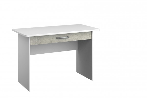 Schreibtisch 110cm alpinweiß oder grau metallic