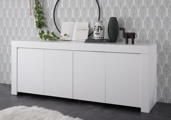 LC Spa Firenze Sideboard 210cm 4-Türen weiß Lack matt
