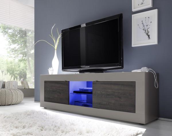TV Unterteil 181cm beige/Wenge mit Glasablage