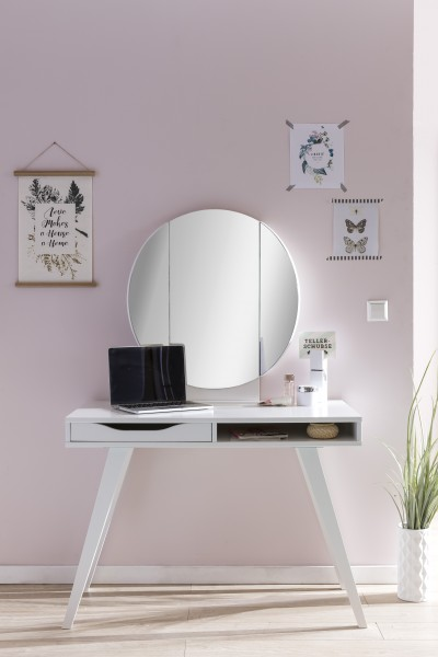 Wimex Schminktisch Dresertable mit klappbarem Spiegel / weiß