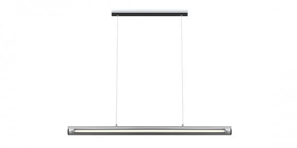 Hängelampe 125cm aus Metall/ Glas
