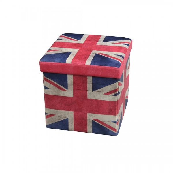 """Faltbare Aufbewahrungsbox mit Deckel /Sitzfläche """"UK"""""""