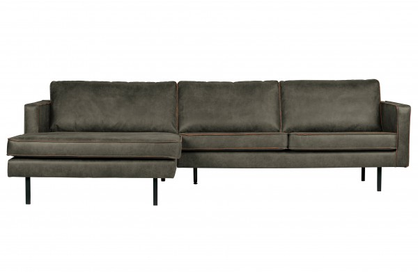 Sofa 3-Sitzer Eco Leder Army Chaiselongue links