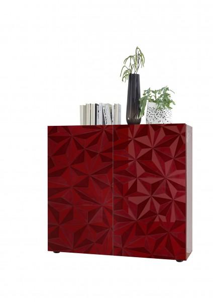 Highboard Prisma Rot von LC Spa