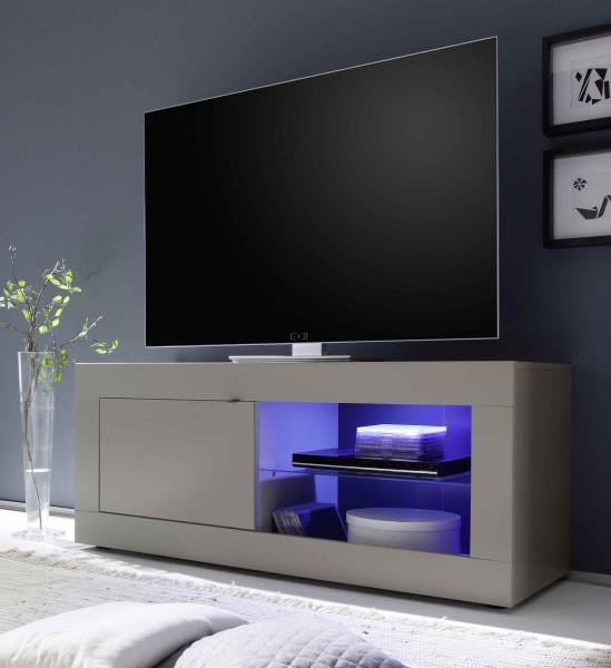 TV Unterteil 140cm beige mit Glasablage