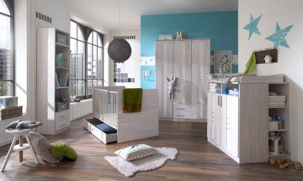 Babyzimmer Wimex Bornholm 7-teilig Weißeiche Nachbildung