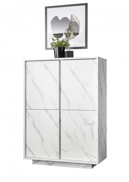 Highboard Carrara Weiß von LC Spa