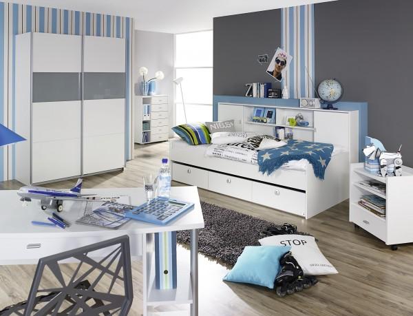 Kinder-Jugendzimmer alpinweiß oder grau Metallic
