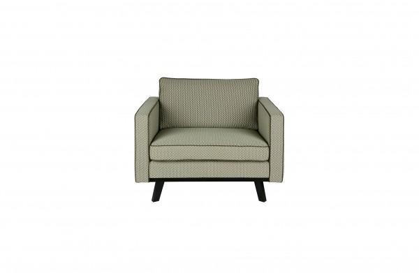 Sessel Retro Style grün/ beige