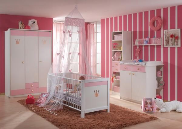 Wimex Babyzimmer Cindy 7tlg. Alpinweiß/Rosé