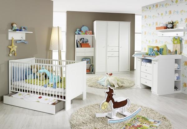 Babyzimmer mit Babybett 70x140cm Alpinweiß 8tlg.