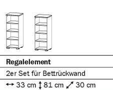 Regalelement 2er Set alpinweiß