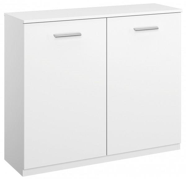 Wäschekommode 100cm 2 Türen alpinweiß
