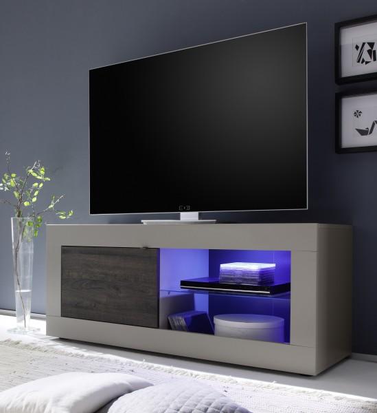 TV Unterteil 140cm beige/Wenge mit Glasablage
