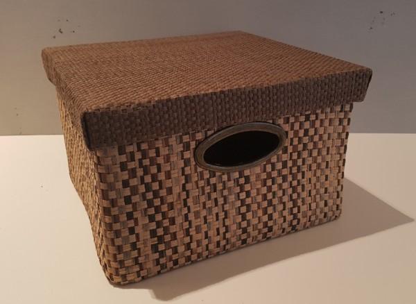 Faltbare Aufbewahrungsbox mit Deckel /braun